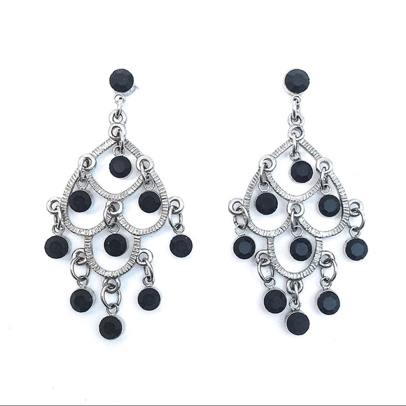 Jewelry black crystal chandelier earrings poshmark black crystal chandelier earrings mozeypictures Image collections